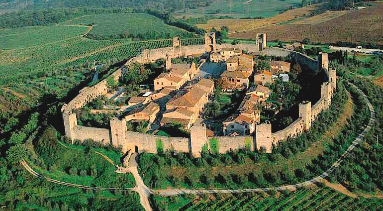 Monteriggioni from the air
